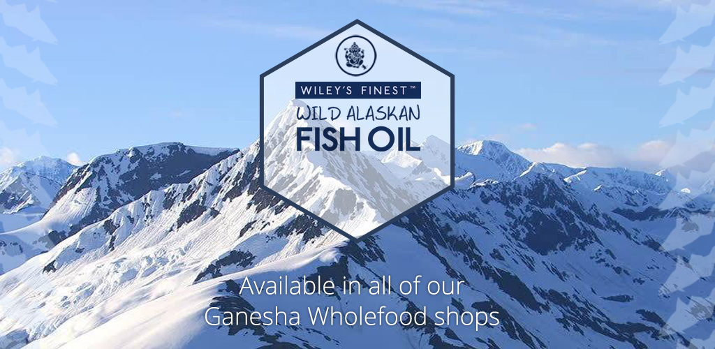 Ganesha wholefoods now stock wileys wild alaskan fish oil for Whole foods fish oil